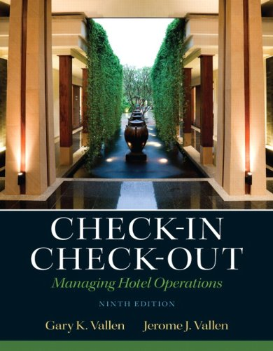 Check-In Check-Out Managing Hotel Operations 9th 2013 (Revised) edition cover