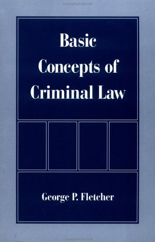 Basic Concepts of Criminal Law   1998 edition cover