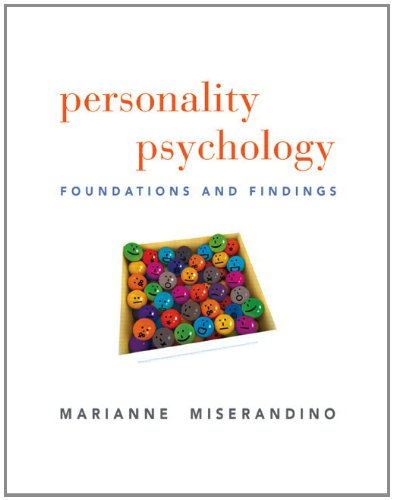 Personality Psychology Foundations and Findings  2012 edition cover