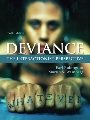 Deviance The Interactionist Perspective 10th 2008 edition cover