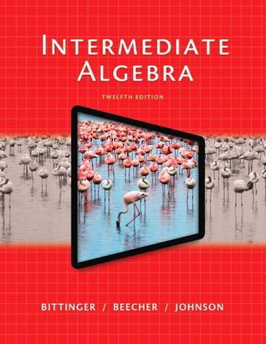 Intermediate Algebra  12th 2015 edition cover
