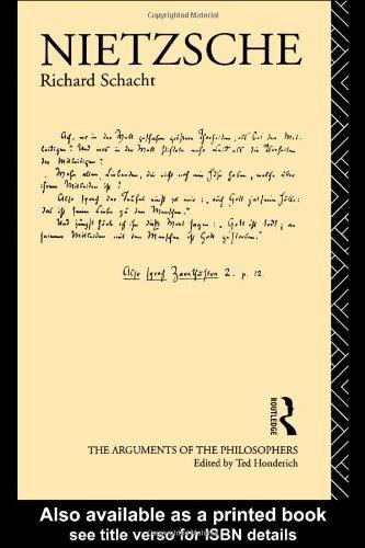 Nietzsche Great Philosophers  1985 edition cover