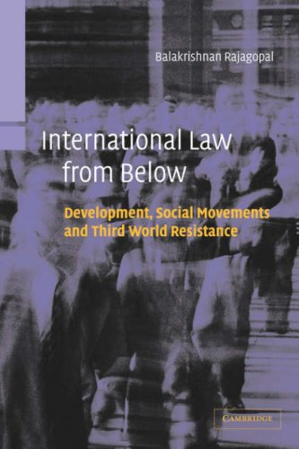 International Law from Below Development, Social Movements and Third World Resistance  2003 edition cover