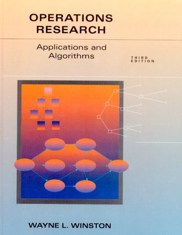 Operations Research Applications and Algorithms 3rd 1998 edition cover