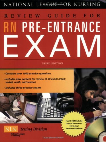 RN Pre-Entrance Exam  3rd 2009 (Revised) 9780763762711 Front Cover