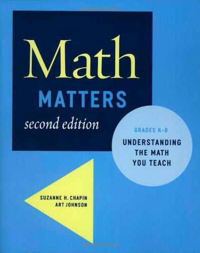 Math Matters Understanding the Math You Teach, Grades K-8 2nd 2006 edition cover