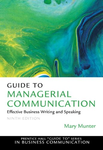 Guide to Managerial Communication  9th 2012 (Revised) edition cover