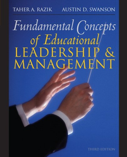 Fundamental Concepts of Educational Leadership and Management  3rd 2010 edition cover