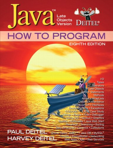 Java How to Program Late Objects Version 8th 2010 edition cover