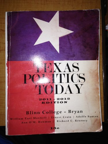 TEXAS POLITICS TODAY 2011-2012 N/A 9780495970712 Front Cover