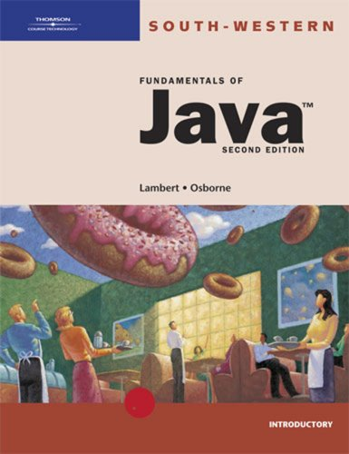 Fundamentals of Java Introductory 2nd 2003 (Revised) edition cover