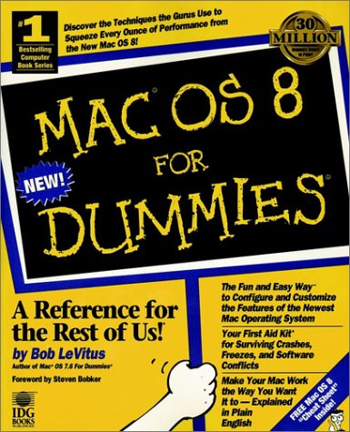 Mac OS 8 for Dummies   1997 9780764502712 Front Cover