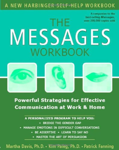 Messages Workbook Powerful Strategies for Effective Communication at Work and Home  2004 (Workbook) edition cover