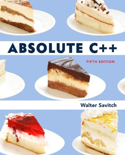 Absolute C++  5th 2013 (Revised) edition cover