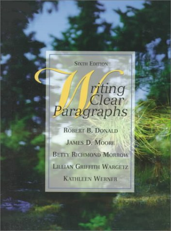 Writing Clear Paragraphs  6th 1999 (Revised) edition cover