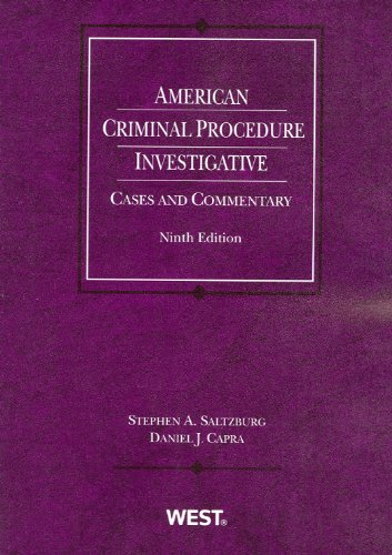American Criminal Procedure Investigative 9th 2010 (Revised) edition cover