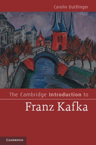 Cambridge Introduction to Franz Kafka   2013 edition cover