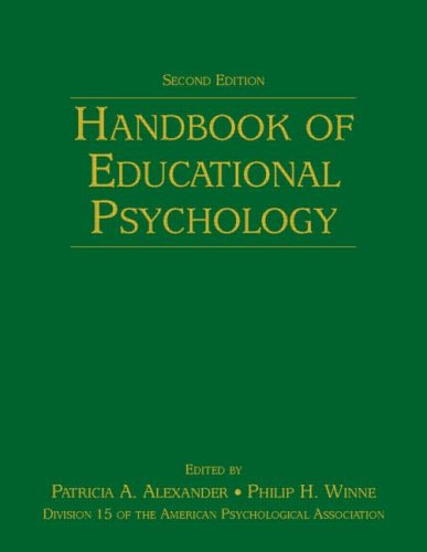 Handbook of Educational Psychology  2nd 2006 (Revised) edition cover