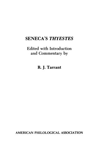 Seneca's Thyestes  N/A edition cover
