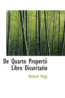De Quarto Propertii Libro Dissertatio  2009 edition cover