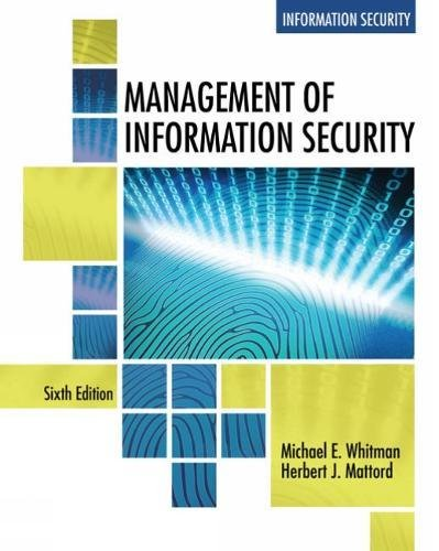 Management of Information Security:   2018 9781337405713 Front Cover
