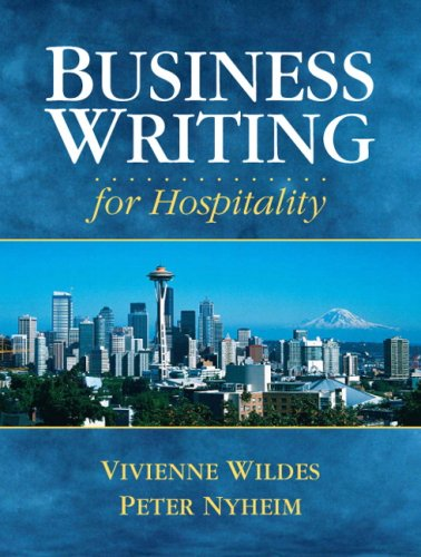 Business Writing for Hospitality   2009 9780131715714 Front Cover