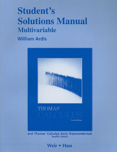 Multivariable  12th 2010 edition cover