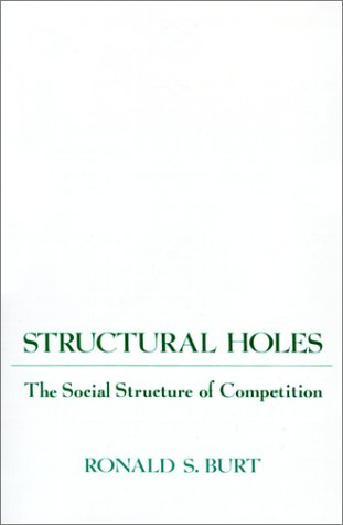 Structural Holes The Social Structure of Competition  1992 edition cover