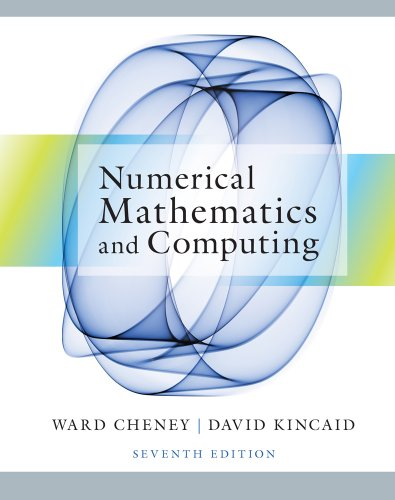 Numerical Mathematics and Computing  7th 2013 edition cover