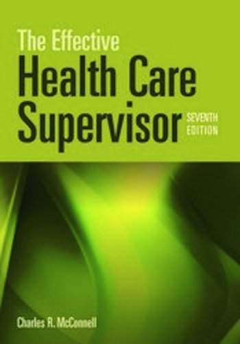 Effective Health Care Supervisor  7th 2012 edition cover