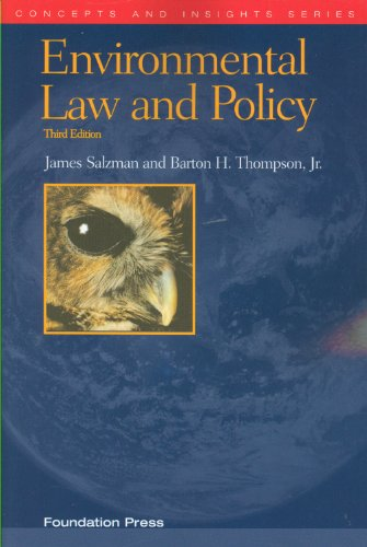 Environmental Law and Policy  3rd 2010 (Revised) edition cover