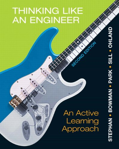 Thinking Like an Engineer An Active Learning Approach 2nd 2013 (Revised) 9780132766715 Front Cover