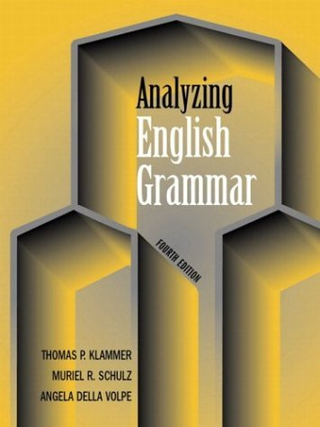 Analyzing English Grammar  4th 2004 (Revised) edition cover