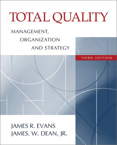 Total Quality Management  3rd 2003 edition cover