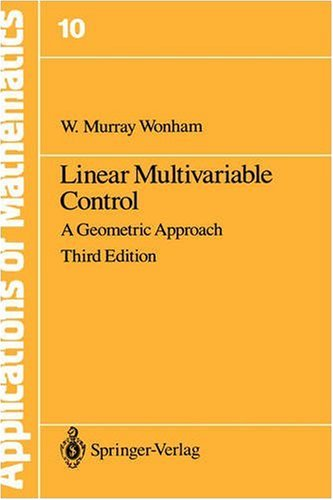 Linear Multivariable Control A Geometric Approach 3rd 1985 edition cover
