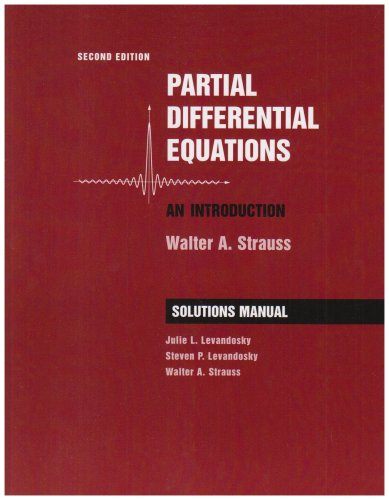 Partial Differential Equations An Introduction 2nd 2008 edition cover