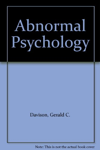 Abnormal Psychology  6th 1994 9780471557715 Front Cover