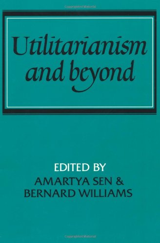 Utilitarianism and Beyond   1982 edition cover