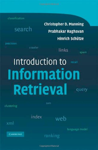 Introduction to Information Retrieval   2008 edition cover