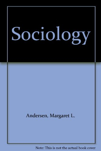 Sociology Understanding a Diverse Society 1st 2000 (Student Manual, Study Guide, etc.) 9780534566715 Front Cover