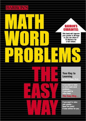 Math Word Problems the Easy Way   2002 (Workbook) edition cover