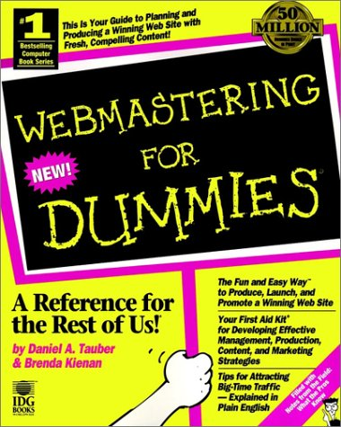 Web Mastering for Dummies   1997 9780764501715 Front Cover