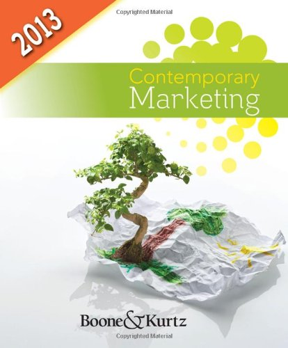 Contemporary Marketing, 2013 Update  15th 2013 edition cover