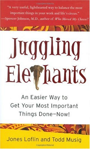 Juggling Elephants An Easier Way to Get Your Most Important Things Done--Now! N/A 9781591841715 Front Cover