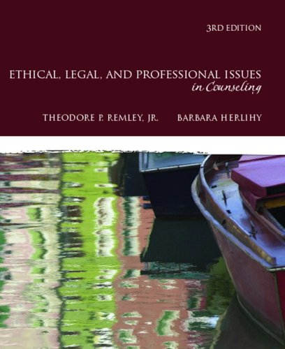 Ethical, Legal, and Professional Issues in Counseling  3rd 2010 edition cover