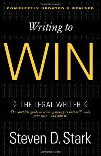 Writing to Win The Legal Writer  2012 edition cover