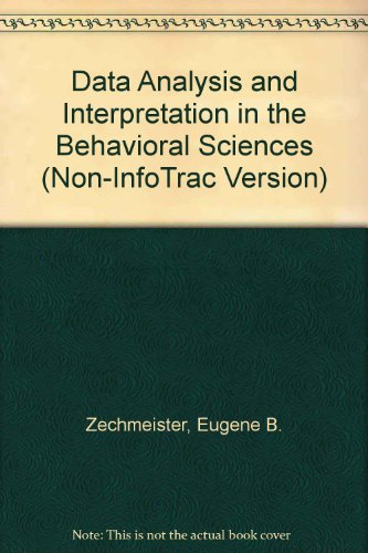 Data Analysis and Interpretation in the Behavioral Sciences (Non-InfoTrac Version)   2003 9780534530716 Front Cover