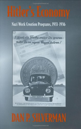 Hitler's Economy Nazi Work Creation Programs, 1933-1936  1998 edition cover