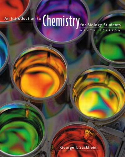 Introduction to Chemistry for Biology Students  9th 2008 (Revised) edition cover