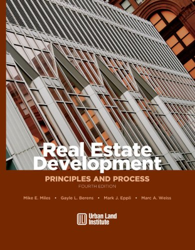 Real Estate Development Principles and Process 4th 2007 edition cover